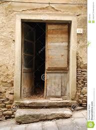 old wooden door ajar stock image image of steps italy 4781423