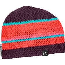 Multicolor Beanie Hot Coral One Size