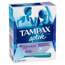 Tampax Sport Light Tampax Pearl Active Tampons Light Absorbency 18 Count