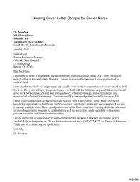 Rn Cover Letter For Resume How To Write An Application Letter For Nursing Cover Sample Senior 19