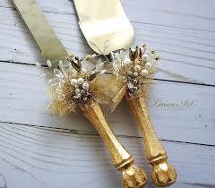 Knifes Wedding Cake Cutting Knife Set Beach Wedding Cake Server