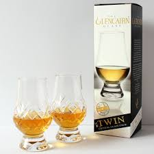 the glencairn official cut crystal whisky glass set of 2 printed gift carton 5060138073722