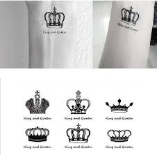 Sex You Up King Queen Clowns Wrist Finger Tattoos Stickers For Temporary Tattoo R120