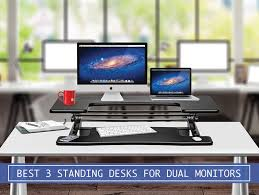 adjustable standing desk dual monitor.  Monitor Best3standingdesksfordualmonitors For Adjustable Standing Desk Dual Monitor A