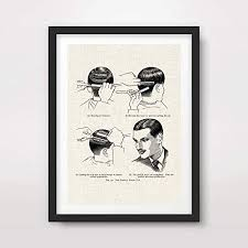 Amazon Com Vintage Man Mens Barber Shop Hair Styles Chart
