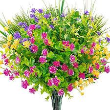 ageomet 9pcs artificial flowers