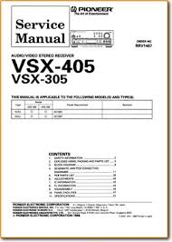 pioneer vsx 305 solid state amp receiver on demand pdf download Pioneer Vsx- 452 pioneer vsx 305 amp receiver main technical manual pdf & tech help*