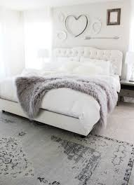 Beautiful grey and white bedroom. Love the cute above the bed.