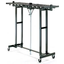 Portable Folding Coat Rack Magnuson Group 100W 100 Hook Capacity Portable Folding Coat Rack 2