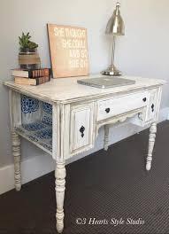 white furniture shabby chic. Unique Chic Shabby Chic Antique White Desk  Painted Furniture Collection Denver  Colorado For