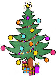 How to Draw a Christmas Tree with Gifts & Presents Under it