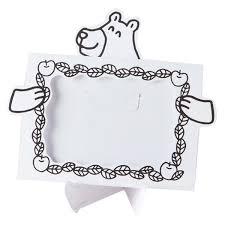 フォトスタンド ペインタホリック クマ 写真たて 紙製 塗り絵 ぬりえ