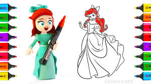 Disney Princess Coloring Pages How To Draw Ariel
