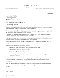 Executive Cover Letters Sales Executive Cover Letter Sample