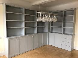 Dining room wall units Cheekybeaglestudios Custom Dining Room Wall Unit Gray Paint Finish 3ddruckerkaufeninfo Custom Dining Room Wall Unit Gray Paint Finish Gothic
