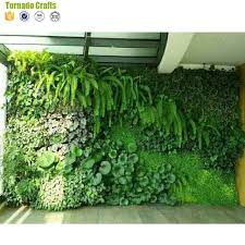 china tornado supplier green leaf artificial grass wall with high imitation plants wall artificial green plant wall decoration guangzhou zhen xin qi