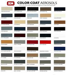 Sem Marine Vinyl Coat Color Chart Sem Color Coat Flexible Paints