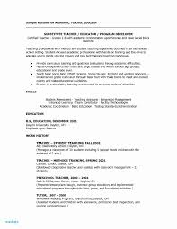 Sample Resume For Teachers Luxury Daycare Sample Resume Unique