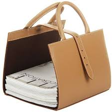 White Leather Magazine Holder Midipy Les Territoires de la Nature Leather Magazine Holder 35