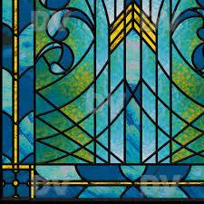 vit192 stained glass sticker art deco