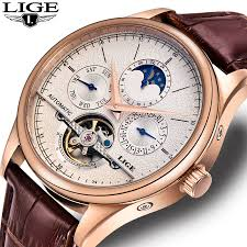 <b>LIGE</b> Brand Men Watches <b>Automatic Mechanical</b> Watch Tourbillon ...
