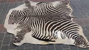 zebra skin rug awesome genuine patterned catawiki pertaining to 15
