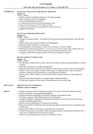 Travel Specialist Resume Samples Velvet Jobs
