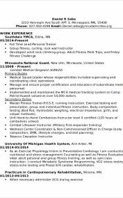 Resume For Personal Trainer New Ymca Personal Trainer Sample Resume Simple Resume Examples For Jobs