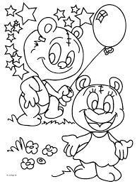 Kleurplaat Beren Met Ballon Kleurplatennl