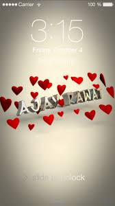 preview of in love for name ajay rawat