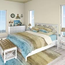 abstract coastal bedding set beach