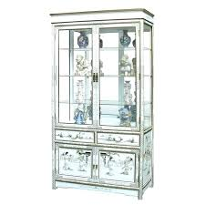 small curio cabinet with glass doors wall s mounted display china white corner