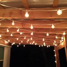 outdoor patio string lighting ideas. they then suggested the c7 base light strings and clear g40 globe bulbs i absolutely adore how turned out outdoor patio string lighting ideas