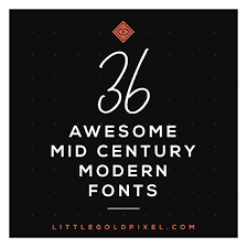 Check out our mid century fonts selection for the very best in unique or custom, handmade pieces from our shops. Awesome Mid Century Modern Fonts Retro Typography Little Gold Pixel