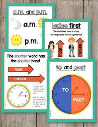 Telling Time Anchor Chart Awesome Telling Time Posters Helpful Anchor Charts For Kids