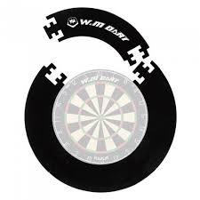 winmax 4 pieces eva wall protector dartboard surround for 18 inches bristle sisal dartboard with