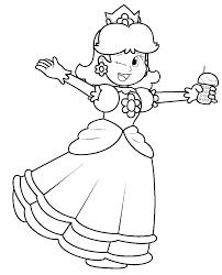 Disegno Di Principessa Daisy Da Colorare Per Bambini Con Aladdin E