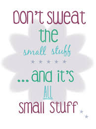 Don T Sweat The Small Stuff Quotes Simple Don't Sweat The Small Stuff Quote Quotes Pinterest Truths