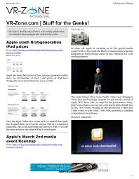 Calam o VR Zone Technology News Stuff for the Geeks Mar 2011.