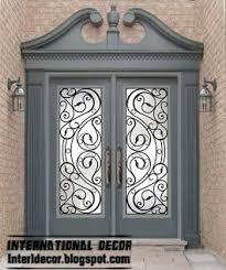 french doors wrought iron glass door