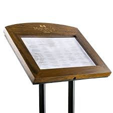 Wooden Menu Display Stands Classy Wooden Display Cases Standing Menu Displays