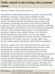 top 8 advertising sales assistant resume samples advertising assistant resume