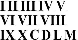 Roman 3 Amazon Com Designer Stencils Three Inch Roman Numerals Wall