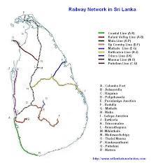 map of railway network in sri lanka