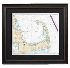 Amazon Com Patriotgearcompany Framed Nautical Chart 13246