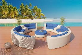 patio furniture with blue cushions monumental round sofa sectional set 5 home ideas 26