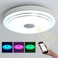 modern led chandelier color changing with speaker control circle
