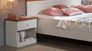 Landhausstil Schlafzimmer Genia 4 Teiliges Set Kiefer Massiv Weiß