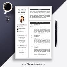 Modern Looking Font For Resume Creative Resume Template 2019 Cover Letter Office Word Resume Editable Modern Cv Template 1 3 Page Best Resume Design Instant Download Kathryn