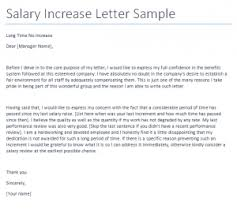 Salary Increase Request Letter Cover Letter Samples